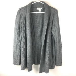 DRESS BARN Open Front Cardigan